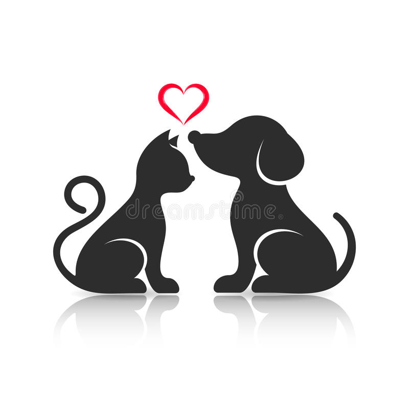 Cat And Dog In Love Cartoon