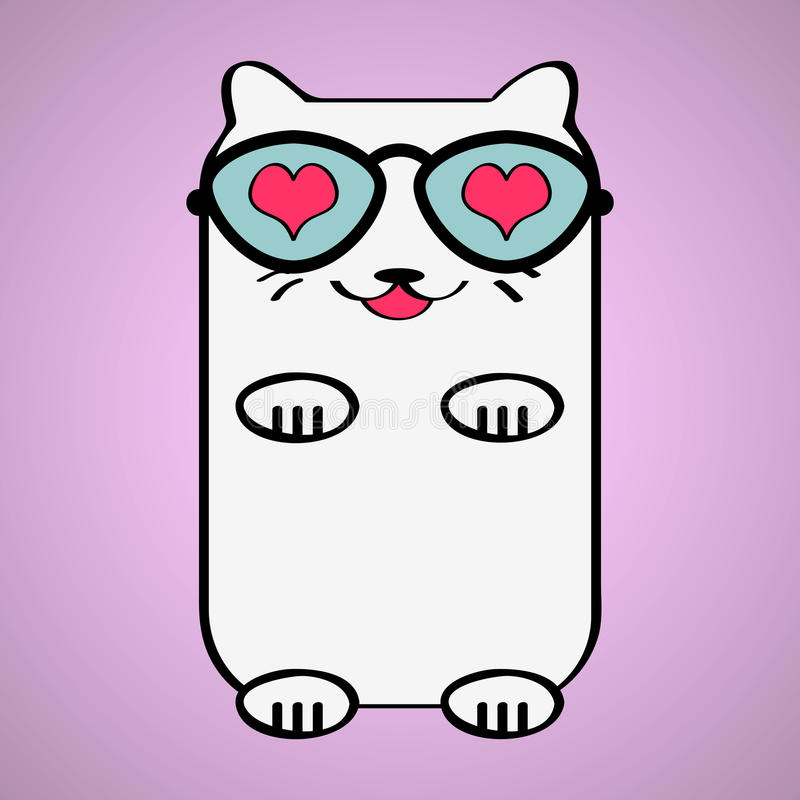 Cute Cat In Love Royalty Free Stock Photo