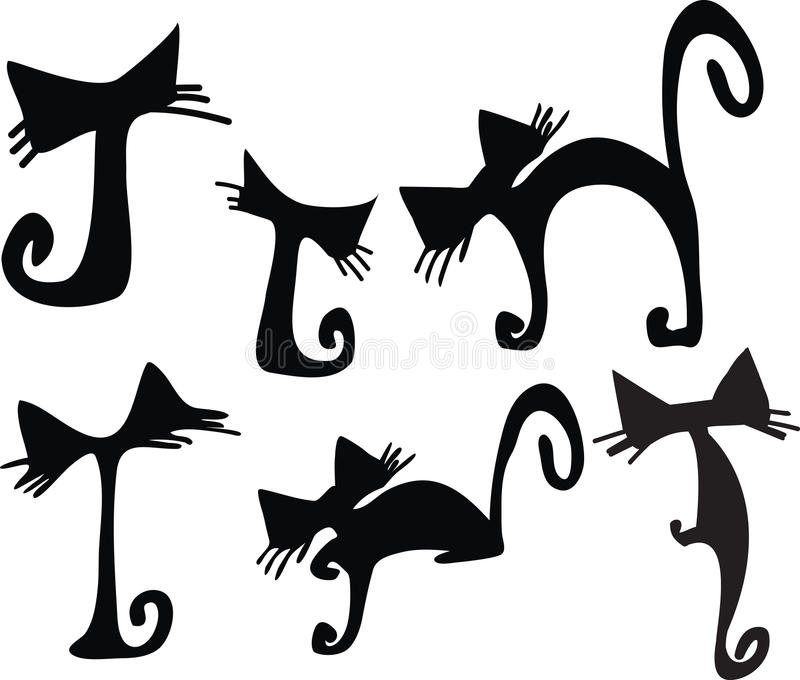 Cute Cats Vector royalty free stock photography