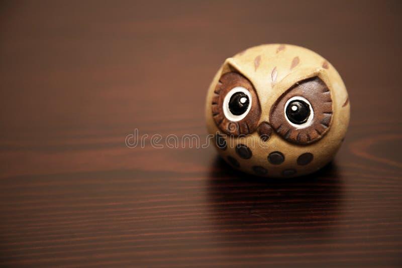 Cute ceramic owl royalty free stock image
