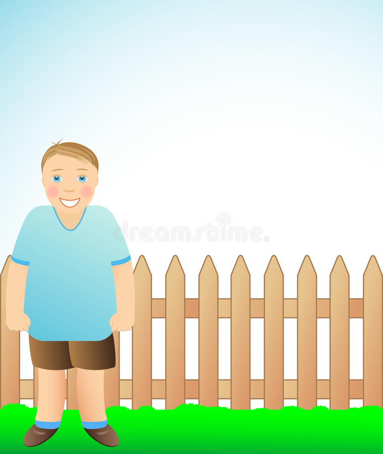 Download Cute cheerful boy stock vector. Image of family, cartoon - 21164099