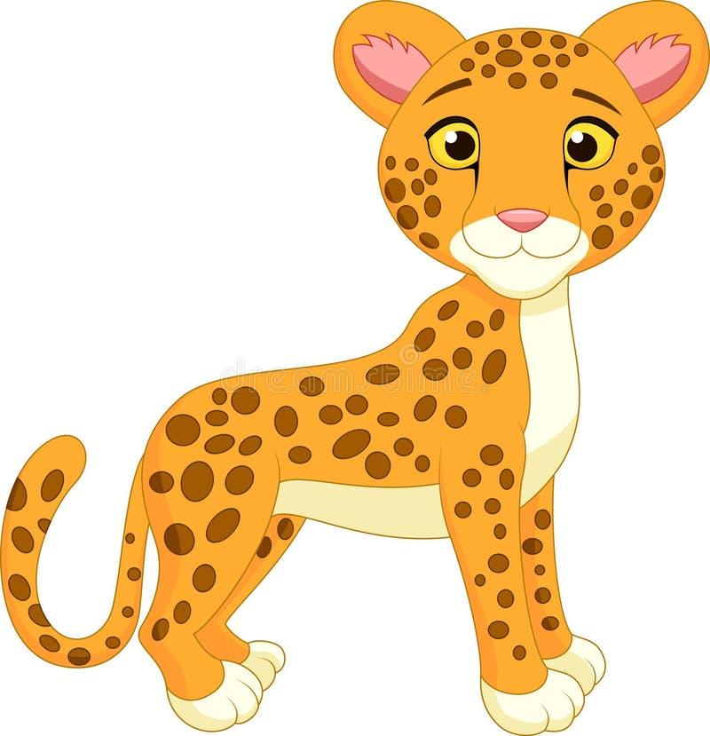 Cute cheetah cartoon stock illustration