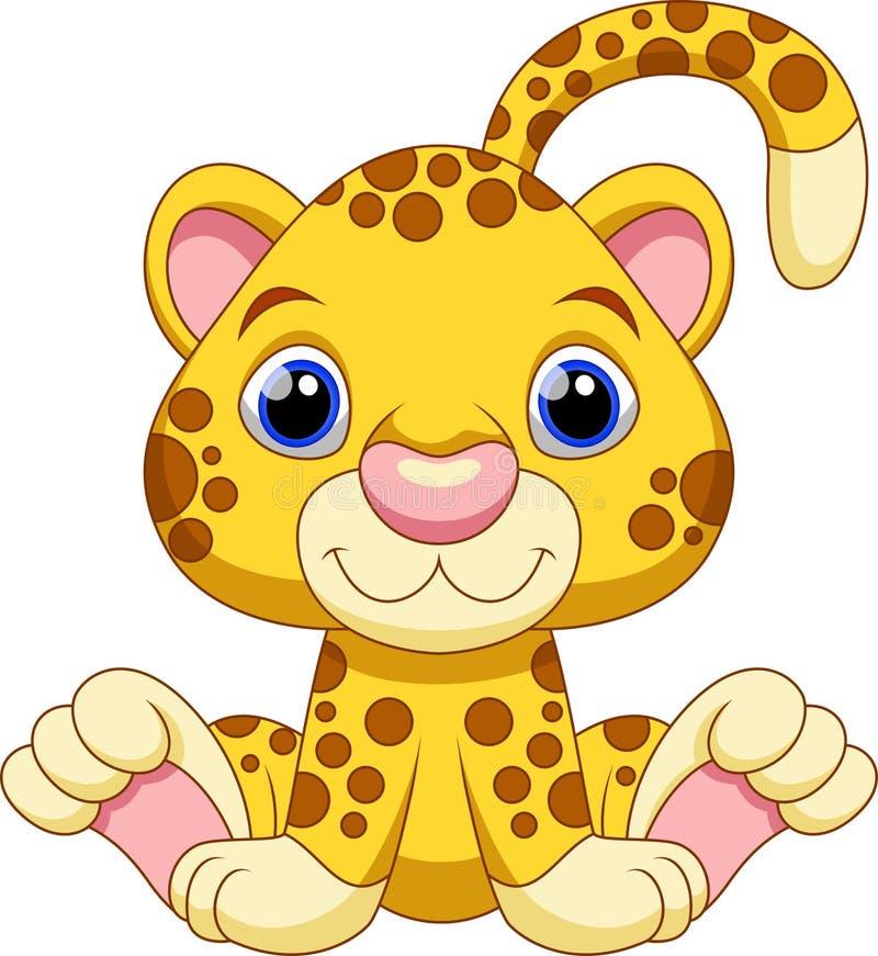 Cute Cheetah Cartoon Stock Illustration. Illustration Of ...