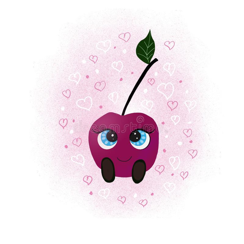 Cute Cherry Character royalty free stock photo
