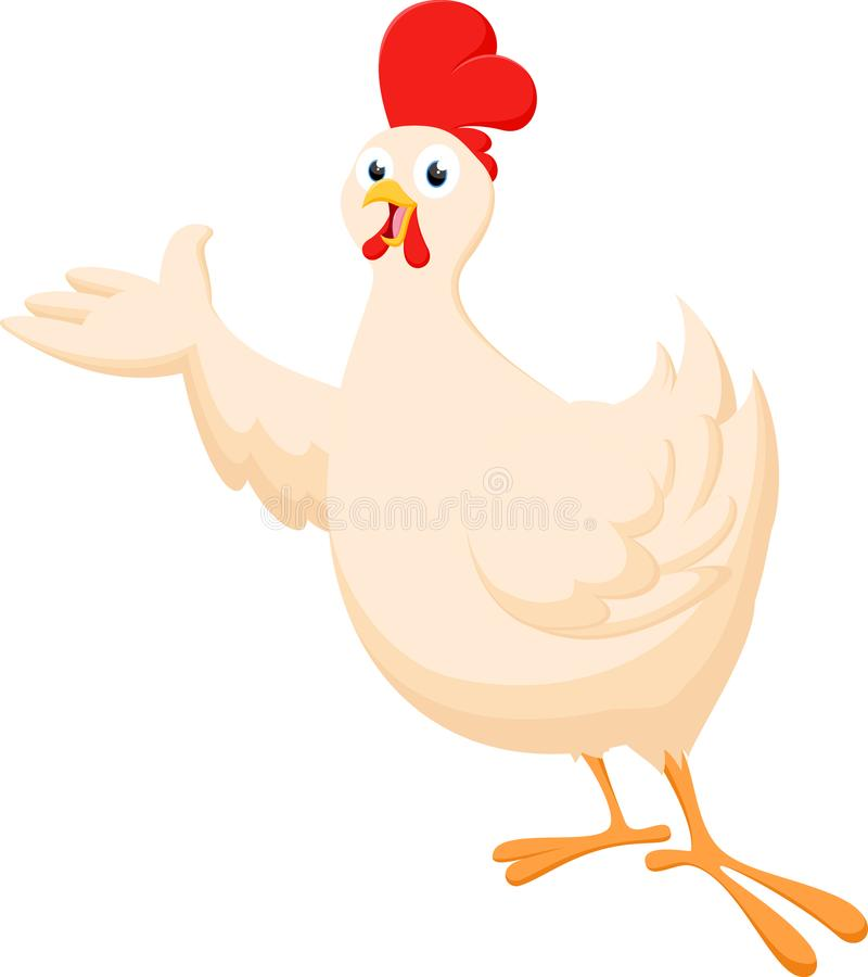 Cute chicken cartoon collection set stock image