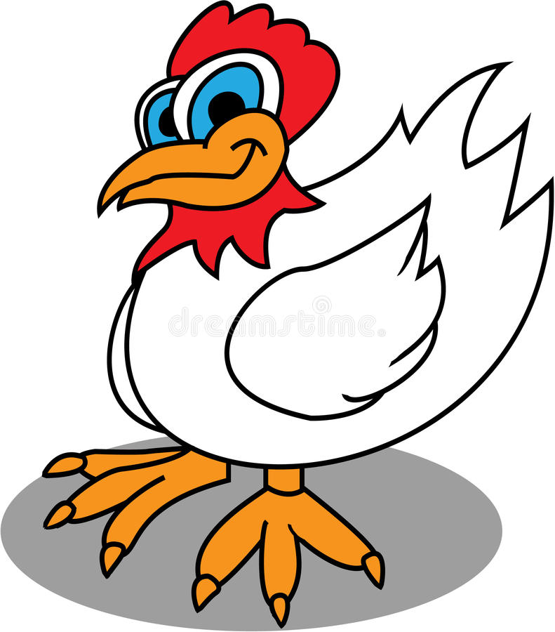 Cute Chicken. A small cute chicken with big eyes stock illustration