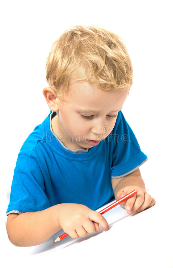 Download Cute child drawing stock image. Image of people, action - 26949951