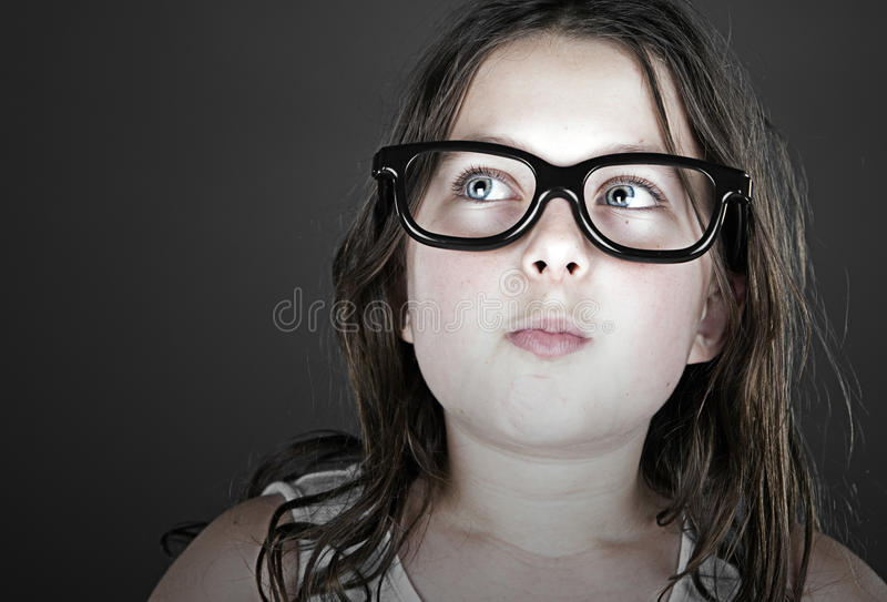 Cute Child Geek stock images