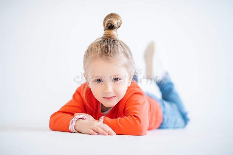 Cute child girl stock image