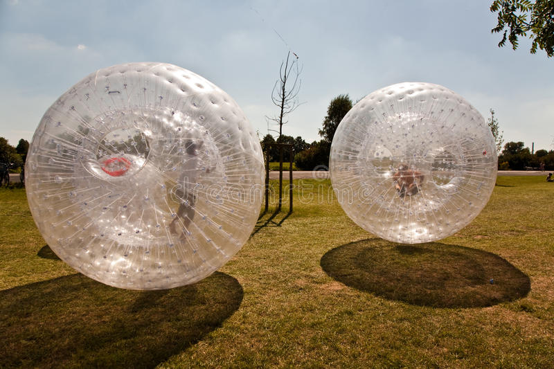 Download Cute Child Has A Lot Of Fun In The Zorbing Ball Stock Photo - Image: 18369362