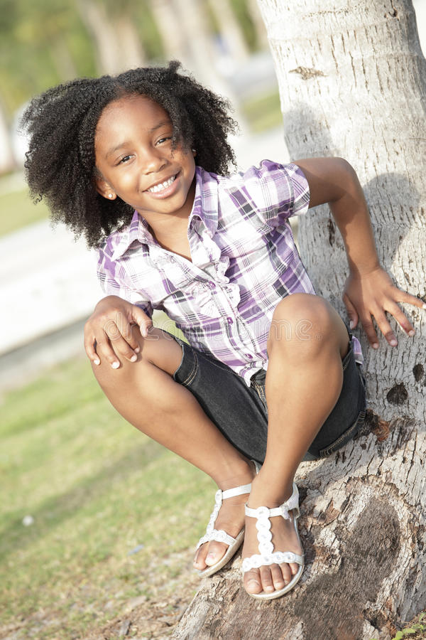 Cute child in the park stock image