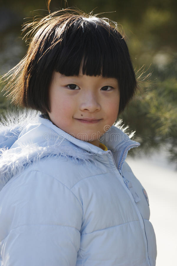 Cute chinese girl royalty free stock image