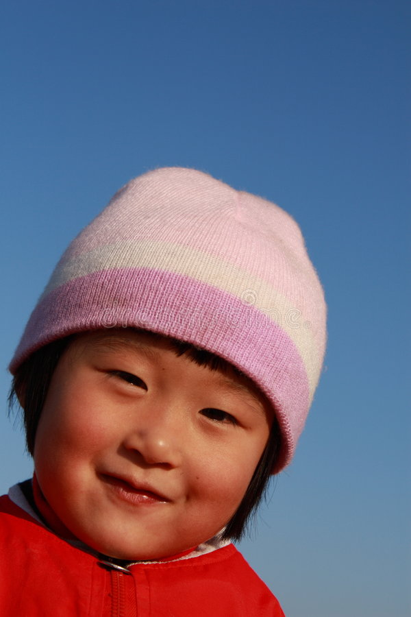 Download Cute Chinese Girl In Winter Stock Image - Image: 7333271