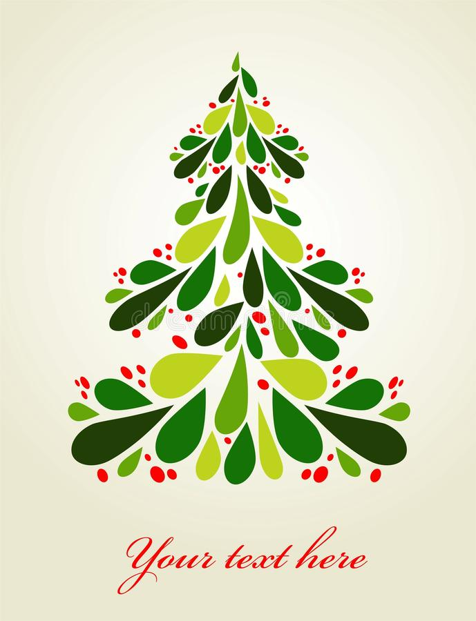 Cute Christmas background stock illustration