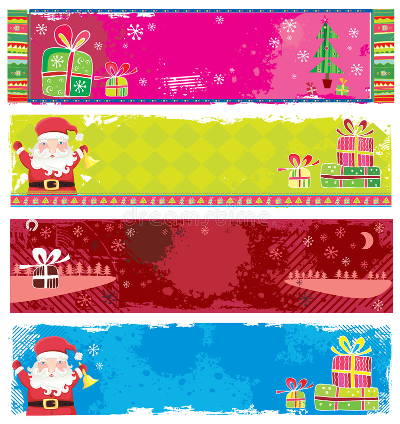 Download Cute Christmas banners stock vector. Illustration of clipart - 7110755