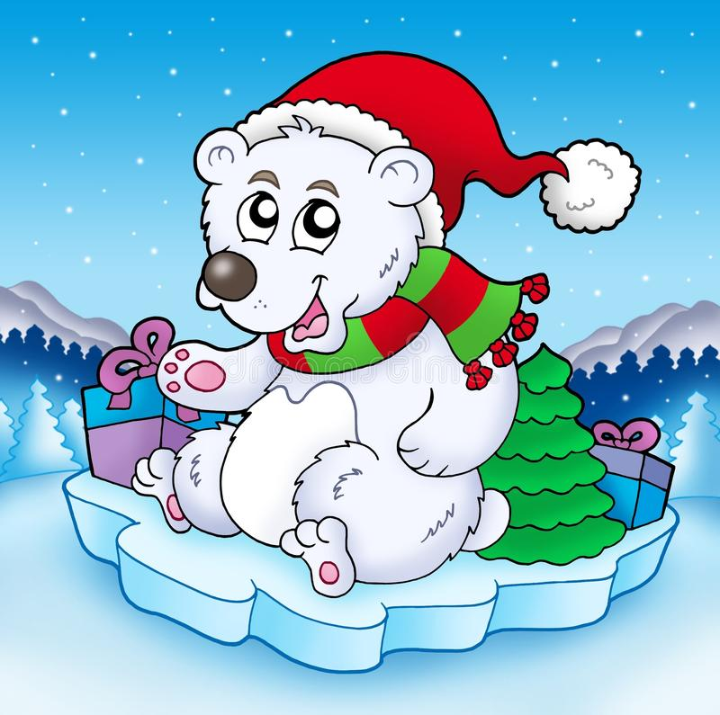 Free Cute Christmas Bear With Gifts Stock Photos - 12212963