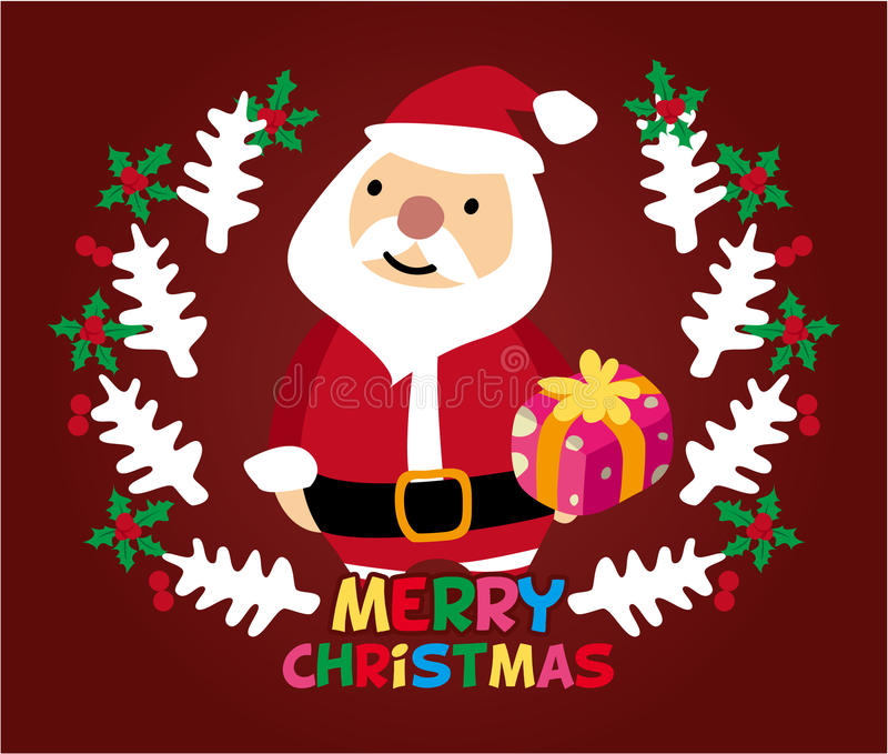 Cute Christmas Card Stock Image