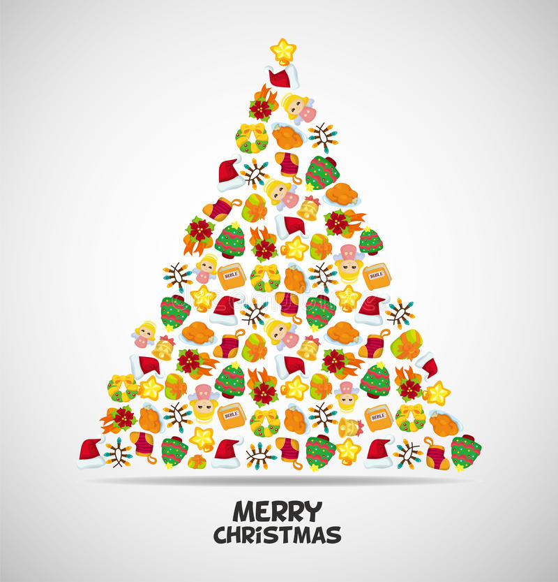 Download Cute christmas card stock vector. Image of cute, ball - 22345396