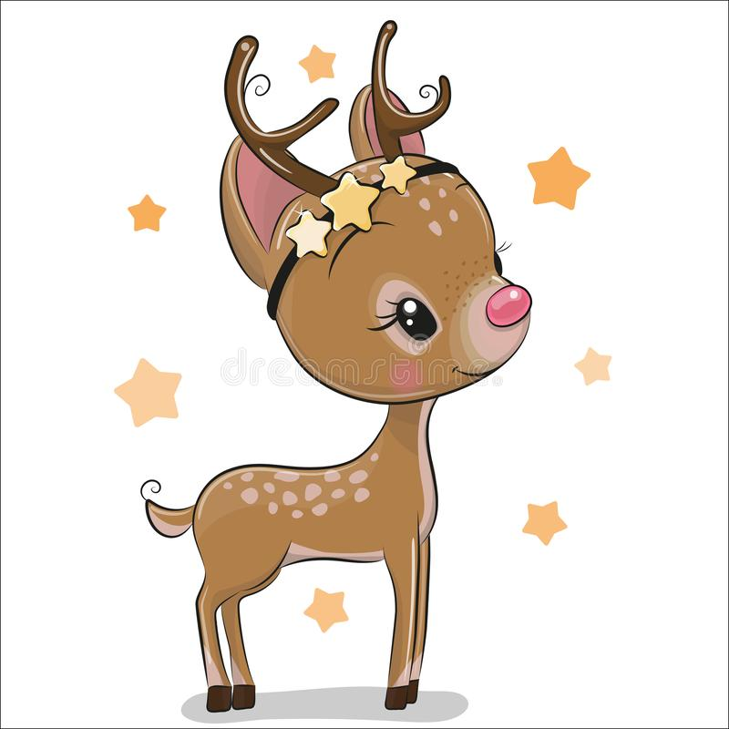 Free Cute Christmas Deer Isolated On A White Background Royalty Free Stock Photos - 135273628