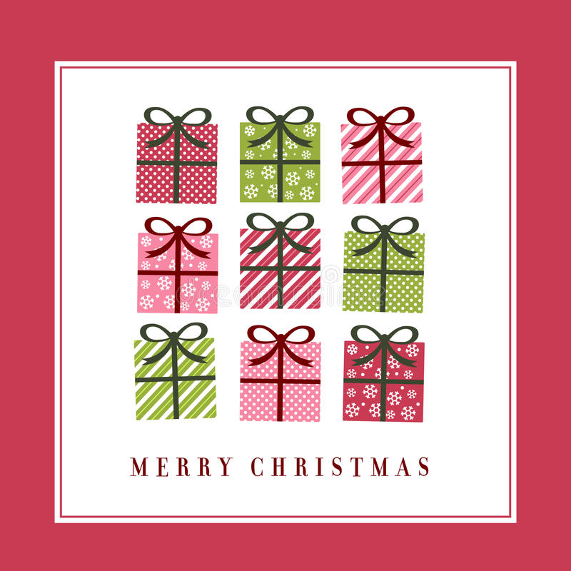 Cute christmas greeting card royalty free illustration