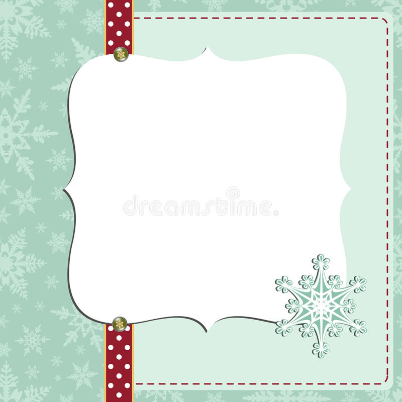 Download Cute Christmas New Year Postcard Template Stock Vector - Illustration: 27031306