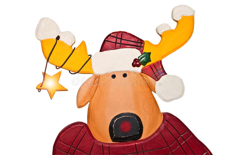 Cute Christmas Reindeer stock photography