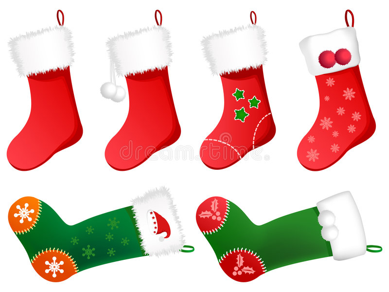 Cute Christmas Stockings Stock Illustration Image Of
