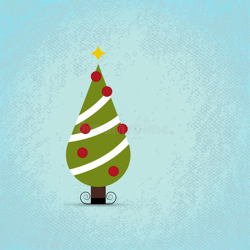 Download Cute Christmas Tree.   Christmas Background Stock Illustration    Illustration Of Holiday, Scenics