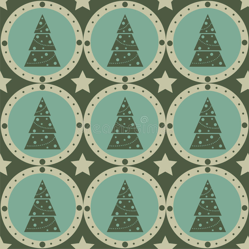 Free Cute Christmas Tree Pattern Royalty Free Stock Image - 17218366