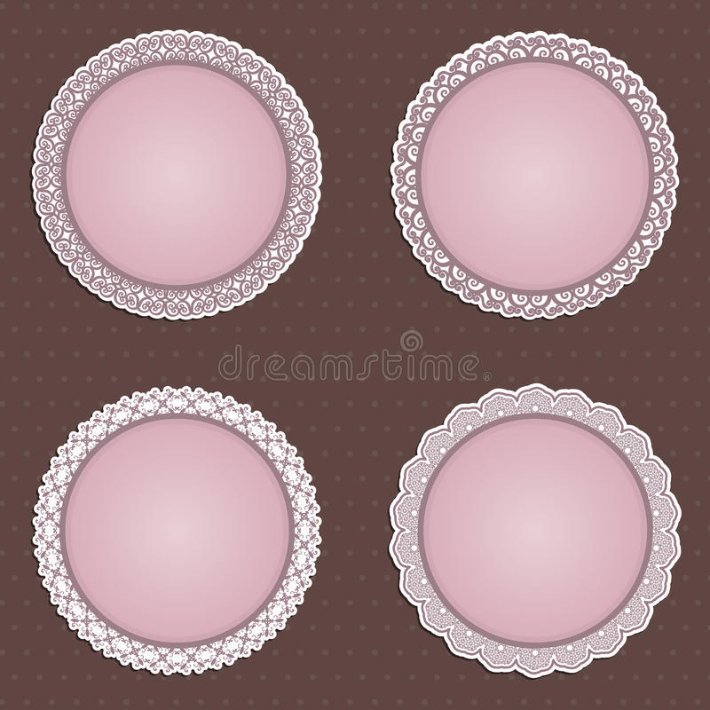 Cute Circular Borders Stock Image