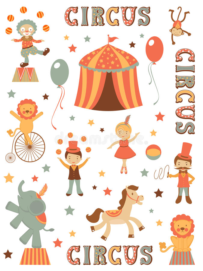 Download Cute circus stock vector. Image of artistic, ball, letters - 30707927