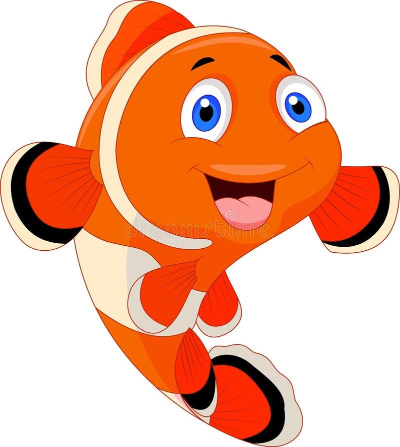 Cute clown fish cartoon vector illustration