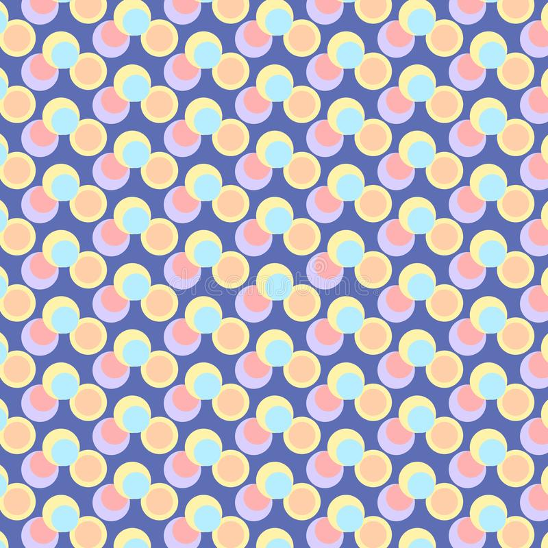 Cute colorful abstract background collections that pattern, geometric, templates design in a4 papers royalty free illustration
