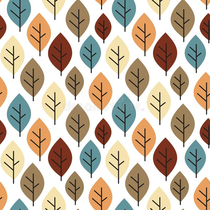 Cute colorful autumn fall seamless vector pattern background illustration with leaves. Cute colorful autumn fall seamless pattern background illustration with vector illustration