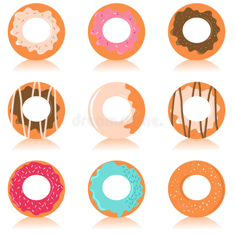 Download Cute colorful donuts stock vector. Illustration of glazed - 9657597