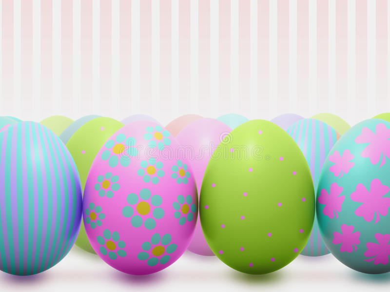 Cute colorful Easter eggs royalty free stock image