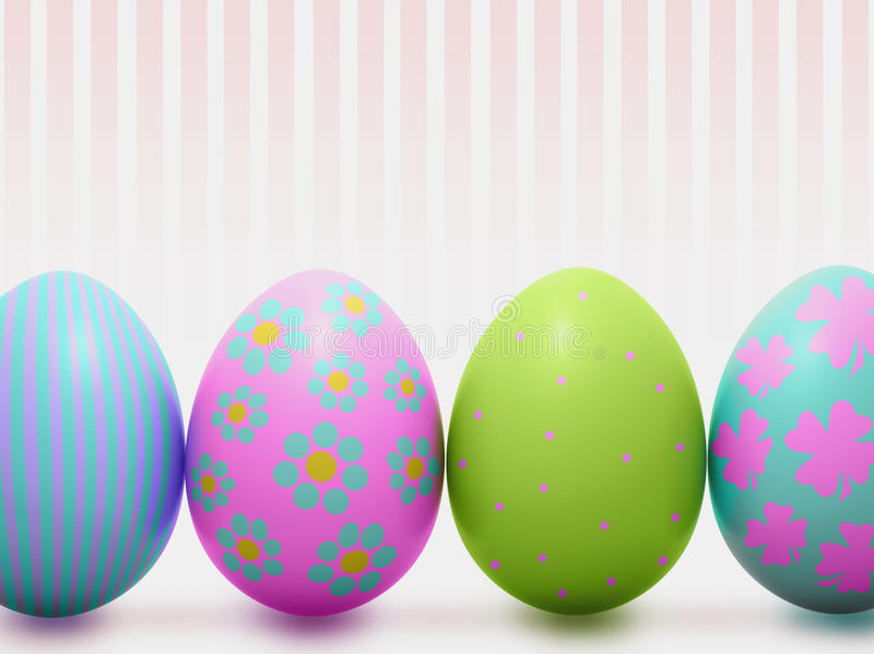 Cute colorful Easter eggs stock photography