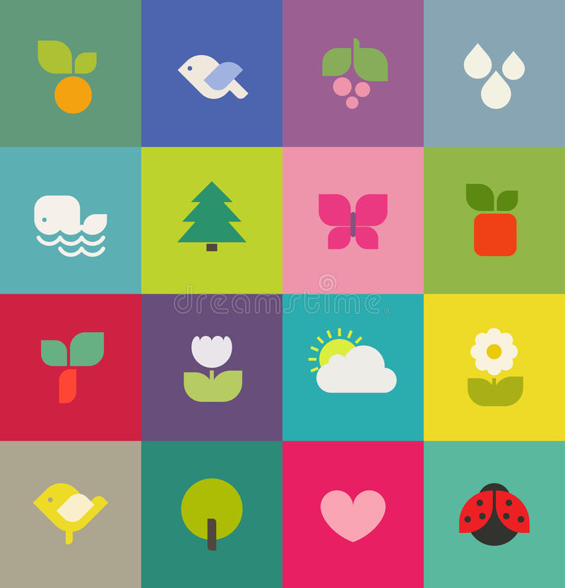 Download Colorful Nature. Icons Set. Vector Illustration Stock Vector - Image: 29882484