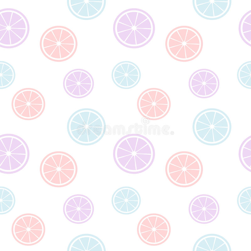 Cute colorful orange slice seamless pattern background illustration stock illustration