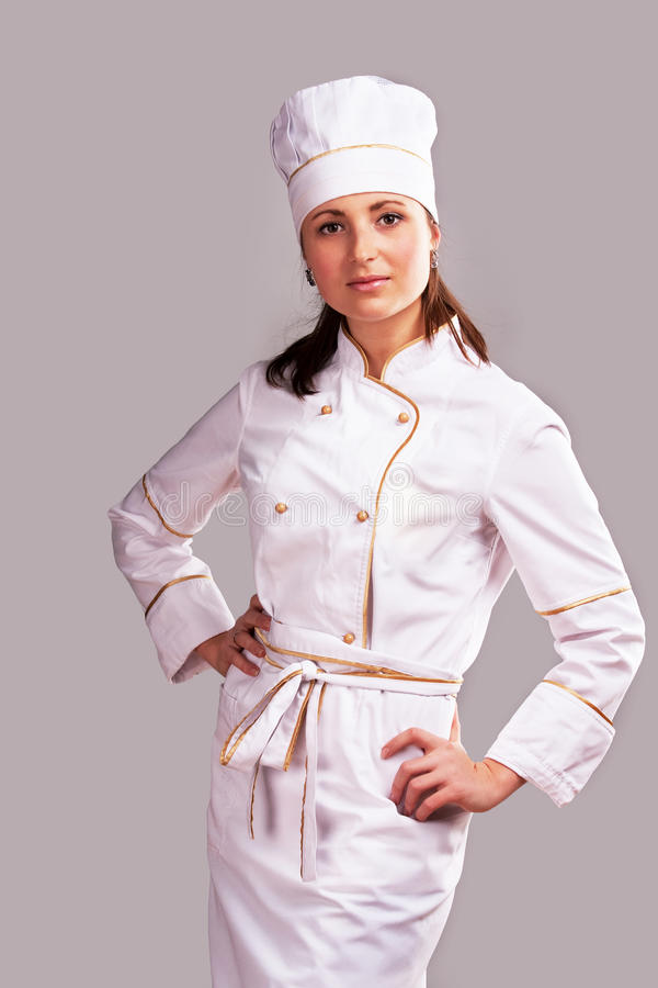 Free Cute Cook Girl Stock Image - 18852231