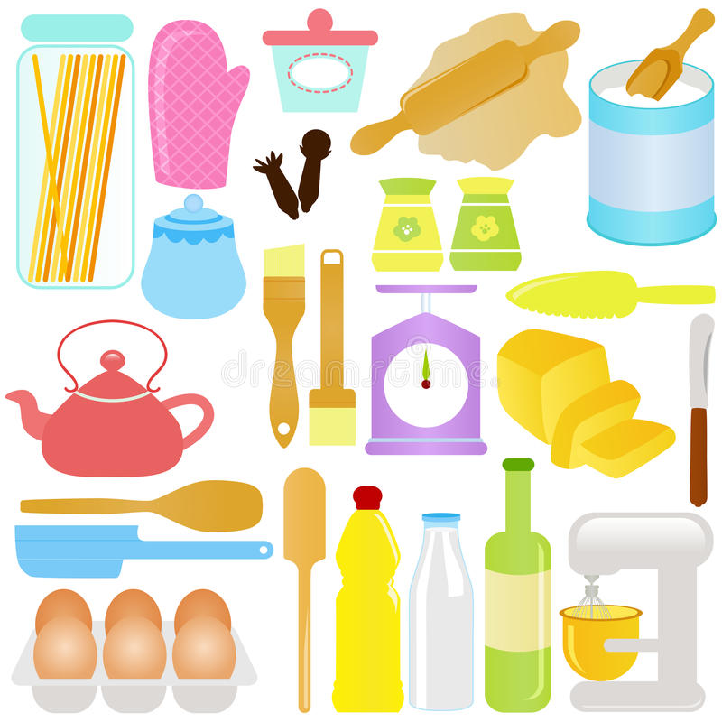 Download Cute Cooking, Baking Theme stock vector. Image of steamed - 22324954
