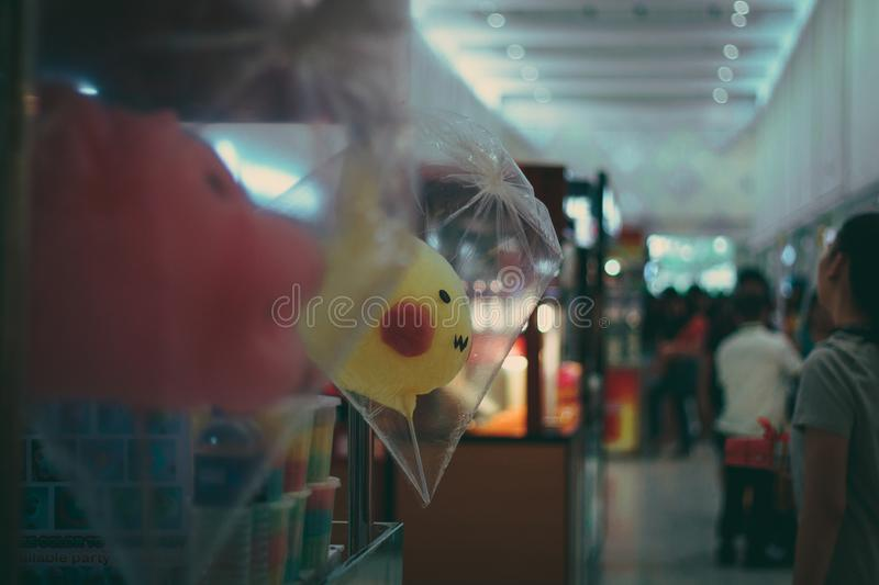 Cotton Candy Stall royalty free stock photos