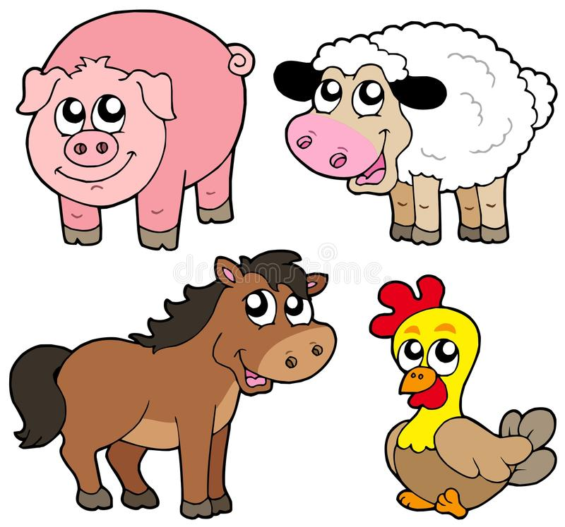 Download Cute Country Animals Collection Stock Vector - Image: 11506953