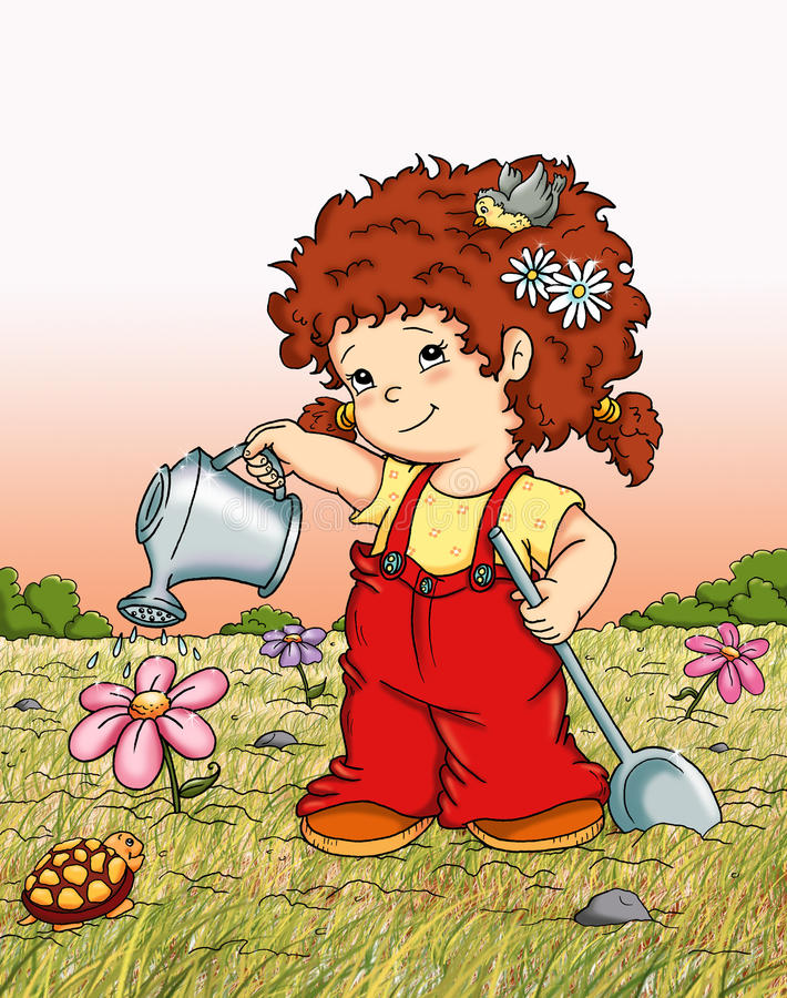 Download Cute country female stock illustration. Image of illustration - 14077237