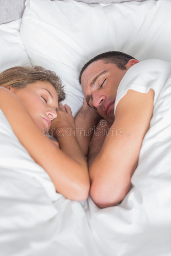 Download Cute Couple Asleep Together In Bed Stock Photo - Image: 32514184