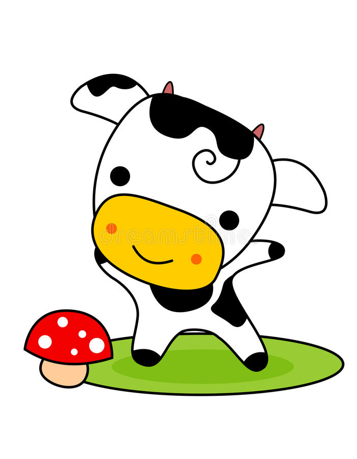Download Cute cow stock vector. Image of calf, cute, cartoons - 19229530