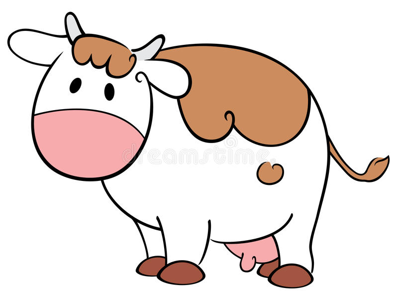 Download Cute cow stock vector. Image of cartoon, isolated, sweet - 25229832