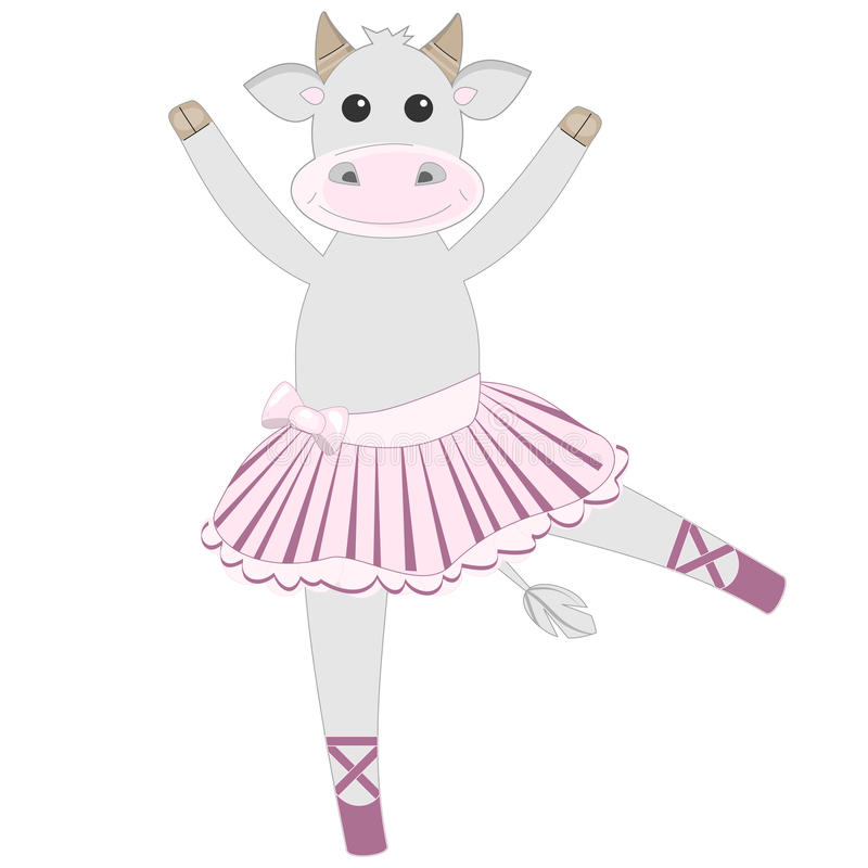 Free Cute Cow Ballerina Pattern Royalty Free Stock Photo - 27367655