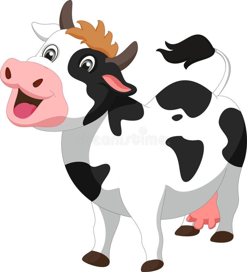 Cute cow cartoon stock image
