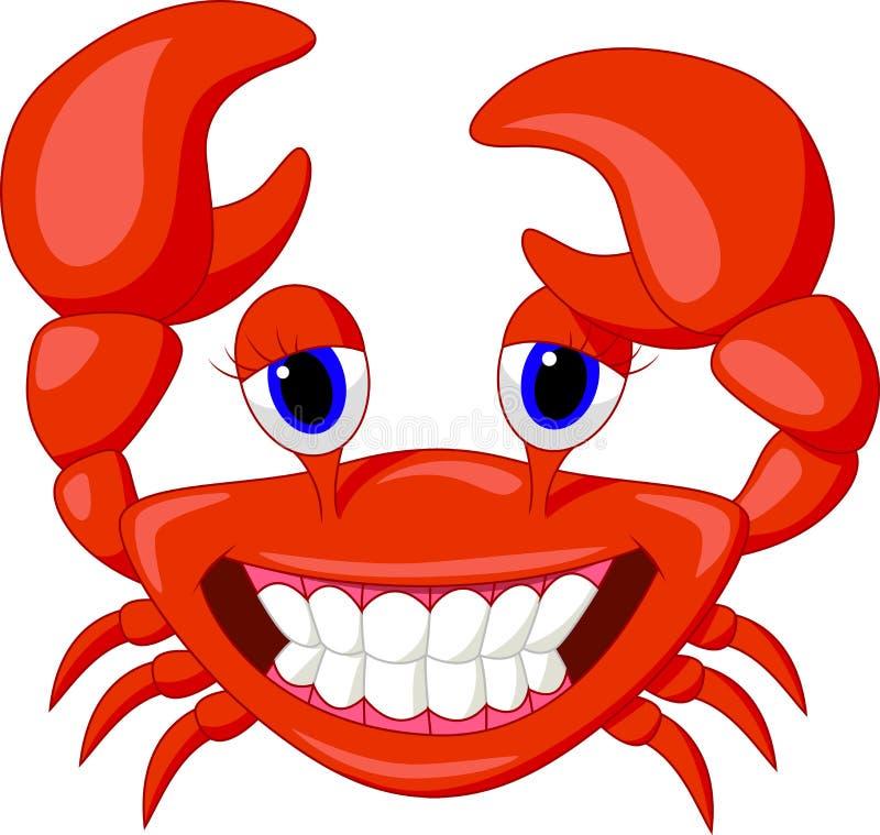 Cute crab cartoon vector illustration